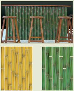 A personal Tiki bar in our Antigua Bamboo hand painted tile.