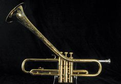 Dizzy Gillespie's custom upturned bell Martin Commitee trumpet. The coolest Jazz instrument ever? Certainly the most expensive anyway...