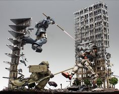 Mobile Suit Gundam The 08th Team Revenge '3 Vs. 1' - Diorama Build     Modeled by  Coralblue