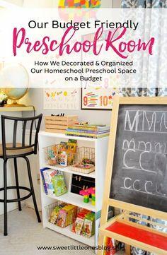 Our {Budget Friendly} Preschool Room