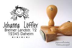 Adress-Stempel *** KLEINE FEE *** personalisiert von KRITZELBUDE  auf DaWanda.com