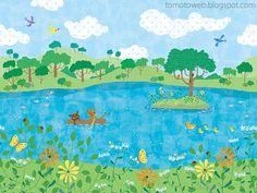 little bears summer adventure Landscaping Software, Landscaping Company, Book Illustration, Illustrations, Children's Picture Books, Landscaping With Rocks, Surface Design, Wallpaper, Artwork