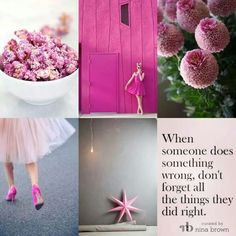 Concentrate on the good Peaceful Words, Pink Popcorn, Collages, Evening Greetings, Pot Pourri, Word Collage, Mood Colors, Beautiful Collage, Everything Pink