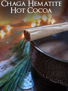 Chaga Hematite Hot Cocoa Recipe // from Woolgathering + Wildcrafting