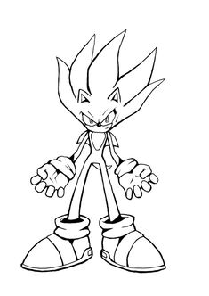 awesome super sonic coloring pages free download