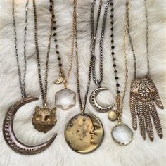 """""""White Witch Vibez ✨ Shop the """"All Hallow: Power Talismans"""" section this weekend and get 15% with the coupon code """"WhiteWitch"""". Free shipping on orders…"""""""
