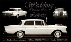 Mit einer Mercedes Benz Limousine zur Hochzeit. Diesen Wagen könnt ihr bei leipzig-oldtimer.de mieten.