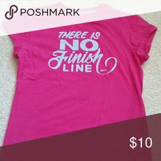 Girls Pink Nike T-shirt / There is NO Finish Line Fun & Cute girls Nike T-shirt Nike Shirts & Tops Tees - Short Sleeve