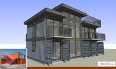 Shipping container home plans and costs and 40' container home floor plans. Sea Container Homes, Building A Container Home, Container Buildings, Container Architecture, Container House Plans, Container House Design, Container Houses, 40 Container, Shipping Container Home Designs