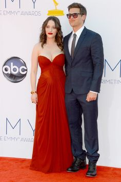 Kat Dennings and Nick Zano at event of The 64th Primetime Emmy Awards
