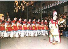 Parade of a Christianfilàof theMoros i Cristians festival inAlcoi, Spain.