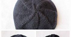 UNO PER TUTTI Avete degli avanzi di gomitoli e non siete sicure che vi bastino per un cappellino? Odiate fare il campioncino? ... Loom Knitting, Knitted Hats, Knit Crochet, Wigs, Hobby, Messy Bun, Nice Things, Beanies, Biscotti