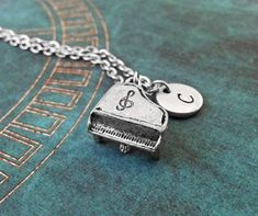 Piano Necklace Silver Piano Charm Necklace Musician by MetalSpeak Gold Jewelry Simple, Cute Jewelry, Women Jewelry, Piano Gifts, Simply Southern, Southern Marsh, Southern Tide, Southern Prep, Musician Gifts