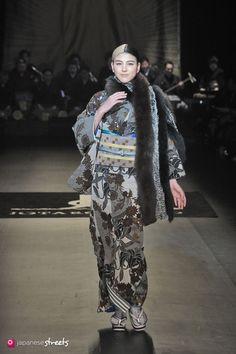 140319-7602 - Autumn/Winter 2014 Collection of Japanese fashion brand JOTARO SAITO on March 19, 2014, in Tokyo.