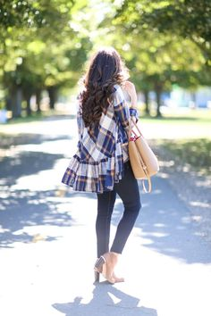 Plaid w/Ruffle Detail