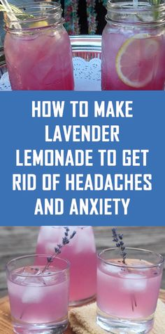 This Lavender Lemonade Recipe Helps Relieve Headaches, Migraines and Anxiety