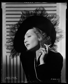 Carole Lombard...this hat is Fierce!
