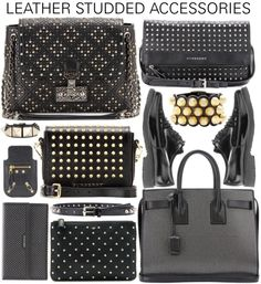 """Leather Studded Accessories"" by hollowpoint-smile on Polyvore"