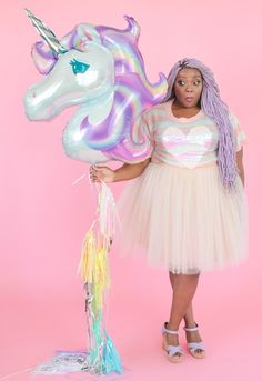 Unicorn Balloon and tassel garland