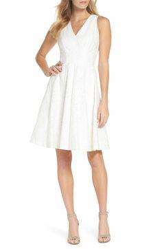 e4c24633 Maggy London Floral Burnout Fit & Flare Dress (Regular & Petite) | Nordstrom