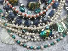 I would love to take beaded necklaces and wear them all at once.