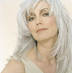 EmmyLou Harris, country singer, is super sexy in silver.