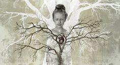 Piia Lehti: Hengitän / I Breathe, silkscreen on plywood, 56 x 103 cm Make Art, Tree Of Life, Mother Earth, Finland, Breathe, Modern Art, Flora, Sky, Artwork