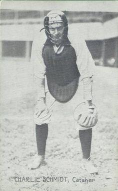 1909 Wolverine News Postcards Detroit Tigers PC773-3 #19 Charlie Schmidt Catcher Front