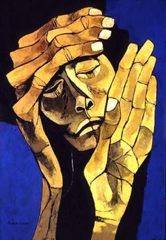 Oswaldo Guayasamin , one of the greatest Ecuadorian painters. He reproduced human sorrow, pain and injustice in his art. Modern Art, Contemporary Art, Art Visage, Arte Obscura, Art Plastique, African Art, Love Art, Art History, Art Drawings