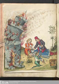 130 [63v] - Ms. germ. qu. 12 - Die sieben weisen Meister - Seite - Mittelalterliche Handschriften - Digitale Sammlungen