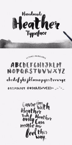 Handmade Heather typeface