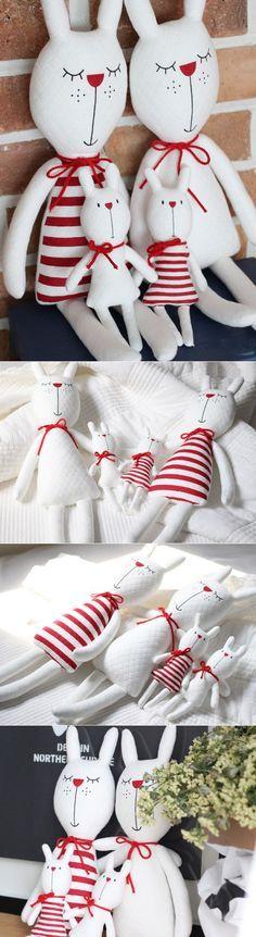 Rabbit Family Tilda. Семья кроликов ~ HandMadiya.com