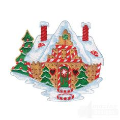 etsy machine embroidery designs gingerbread house | Gingerbread House