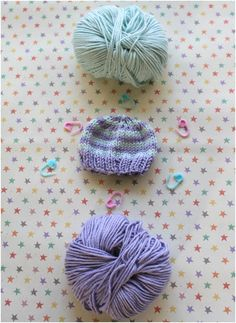 Perfect preemie baby hat knitting pattern on Knit by Bit, only at LoveKnitting!**