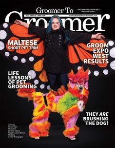 Retro Stylist Wear, San Diego, CA on the cover of Groomer to Groomer magazine! #petgroomerapparel, #stylistwear, #groomingsmocks, #dogroomerapparel, #petgroomingsmocks, #doggroomingsmocks