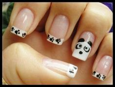 Very cute manicure game with so many colors and patterns of Nail Polish and extras as a file of nails.Nail designs art for the 2013 season. Easy Nails, Get Nails, Love Nails, Simple Nails, Pretty Nails, Funky Nails, French Manicure Nail Designs, French Nails, Nail Manicure