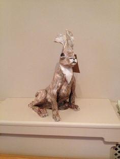 Ceramic hare created by Gaby at Bridge 118