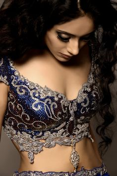 Gorgeous #Lehenga Blouse with crystal beadwork. via indianhanger.com / culturalweddings.com