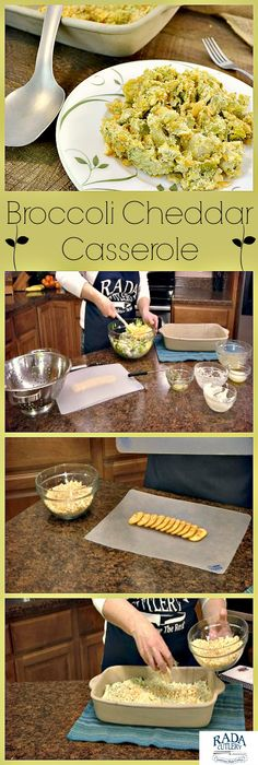 Rada Cutlery: Looking for a potluck dish, or a side everyone will love? With the Broccoli Cheddar Casserole you've found it! This amazing recipe is cheesy, crunchy and delicious!