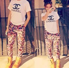Too cute '. Timbs, channel, & floral