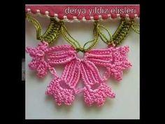 farklı iğne oya tığ modelleri - YouTube Needle Lace, Filet Crochet, Crochet Earrings, Embroidery, Crafts, Free, Jewelry, Cute Crochet, Pillowcases