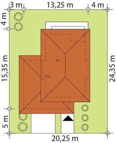 DOM.PL™ - Projekt domu TP Karat 2 CE - DOM TP2-13 - gotowy koszt budowy Duplex Design, Modern House Design, Home Building Design, Building A House, Beautiful House Plans, Mediterranean Style Homes, Architect House, Roof Design, Facade House