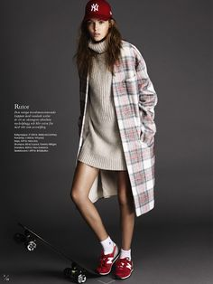 A Sporty Take On This Season's Tartan Trend From ELLE Sweden