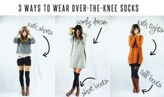 3 ways to wear over-the-knee socks
