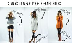 3 ways to wear over-the-knee socks
