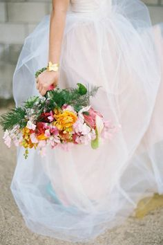 Take A Five-Minute Getaway With This Lush, Tropical Wedding Inspo #refinery29  http://www.refinery29.com/100-layer-cake/58#slide-7  Florals: The Little Branch; ...