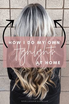 Learn how to do the beloved balayage technique on yourself! I'll show you what I use to do my own balayage using professional products. Diy Ombre Hair, Ombre Hair At Home, Diy Hair Dye, At Home Hair Color, Dyi Hair Color, Hair Colours, Lighten Hair At Home, Dying Hair At Home, How To Dye Hair At Home