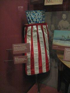 Civil War 1861 Ladies Patriotic Pinner Apron - Original