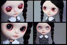 Ooak Blythe custom Blythe doll 'Little Wednesday Addams'. €530,00, via Etsy.