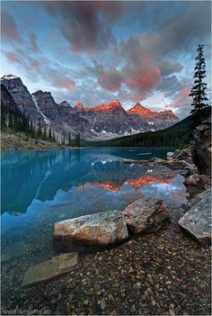 Moraine Lake - Banff National Park - Alberta, Canada   Valley of the Ten Peaks by Christian Klepp on 500px #lakemorainephotos